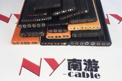 斗轮机扁电缆安装在斗轮机卷筒